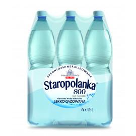 Staropolanka 800 Naturalna woda mineralna średniozmineralizowana lekko gazowana 6 x 1,5 l
