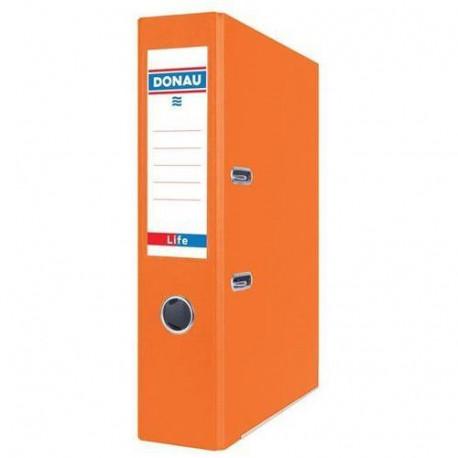 DONAU Segregator Life, neon, A4/75mm, pomarańczowy