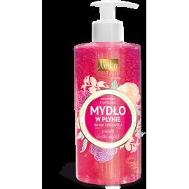 Nutka odżywiające i nawilżające mydło w płynie piwonia i słodki migdał 400 ml