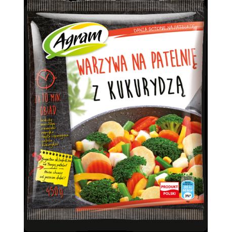 Agram Warzywa na patelnię z kukurydzą 450g