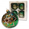 Wojag Bombki dekorowane 4szt zielone