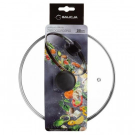 Galicja Pokrywka szklana żaroodporna 18 cm