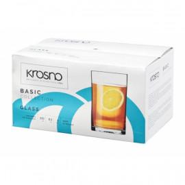 Krosno Szklanka Basic prosta 250ml, kpl.6 szt.