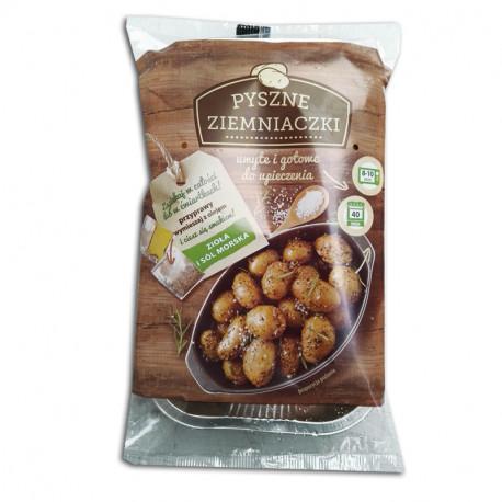 Avex Pyszne ziemniaczki z ziołami i solą morską surowe do pieczenia 500g