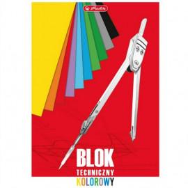 Blok techniczny kolorowy A3 , 10 arkuszy