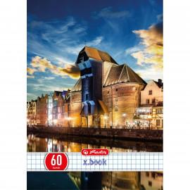 Herlitz  Zeszyt A5, 60 kartek, kratka Citylights