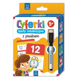 Cyferki – karty edukacyjne z pisakiem. 5+