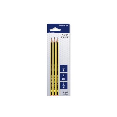 Staedtler Ołówek Noris 3 szt 1B , 2HB , 3H
