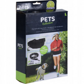Pets Collection Smycz z pasem na biodra .