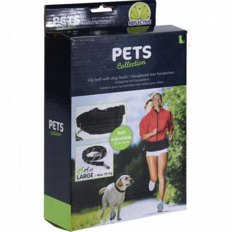Pets Collection Smycz z pasem na biodra .