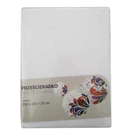 Tecomat prześcieradło frotte z gumką 200x220 + 25 cm (mix kolor)