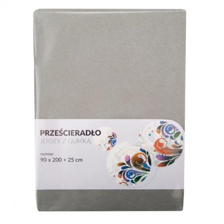 Tecomat Prześcieradło Jersey z gumką  90x200 +25 cm  (mix kolor)