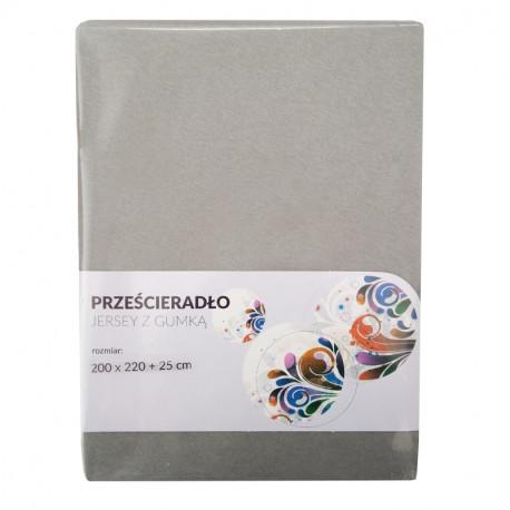 Tecomat Prześcieradło Jersey z gumką 200x220 + 25 cm (mix kolor)