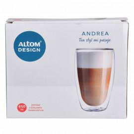 Altom Andrea Zestaw 2 szklanek termicznych 450 ml