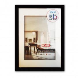 Icar Ramka  drewniana efekt  3D 18X24 (13x18) czarna
