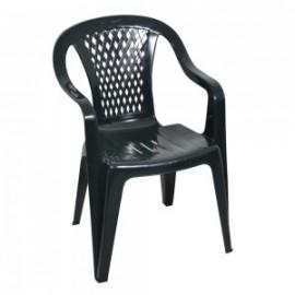 Ołer fotel plastikowy Diament szary