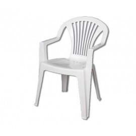 Ołer fotel plastikowy Cyrkon biały