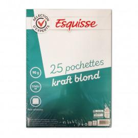 Wm koperty samoklejące -jasnobrązowe 22,9x32,4 25szt
