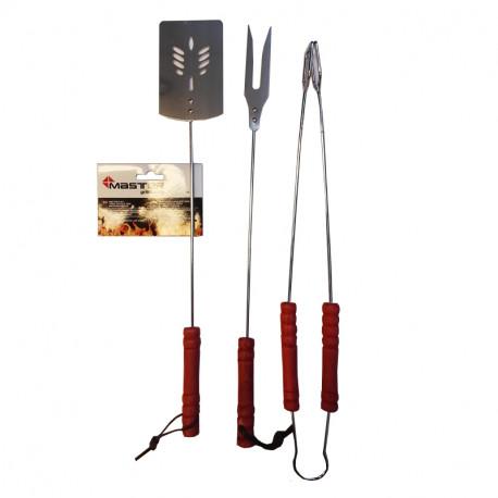 Master Zestaw akcesoriów do grillowania : szczypce , łopatka , widelec