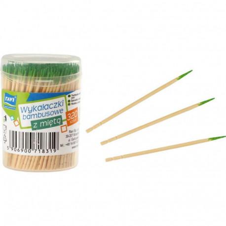 Ravi wykałaczki bambusowe z miętą 320szt