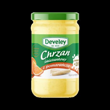 Producent: Develey Develey Chrzan śmietankowy z pomarańczą 135g