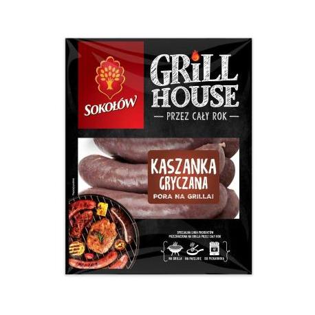 Sokołów Grill House Kaszanka grillowa z boczkiem 600g