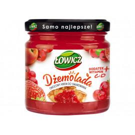 Łowicz Dżemolada Owocowy krem do smarowania czerwony 200 g