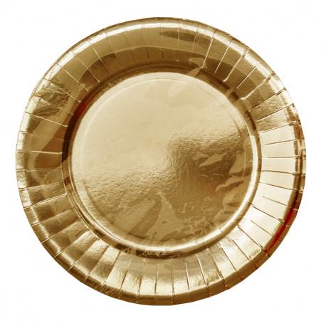 WM Homeside Talerze 27cm 10szt (złote) jednorazowe