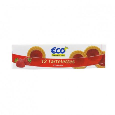 Ciasteczka z nadzieniem o smaku truskawkowym, aromatyzowane - 12 szt.