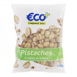 Orzechy pistacjowe prażone solone. Pakowano w atmosferze ochronnej.