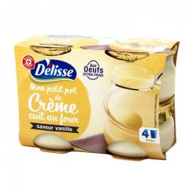 Krem mleczny na bazie świeżych jaj, o smaku waniliowym, aromatyzowany.