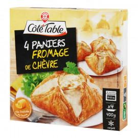 Paszteciki z ciasta francuskiego nadziewane serem kozim, podpieczone- 4 szt. Produkt głęboko mrożony. Nie zamrażać ponownie.