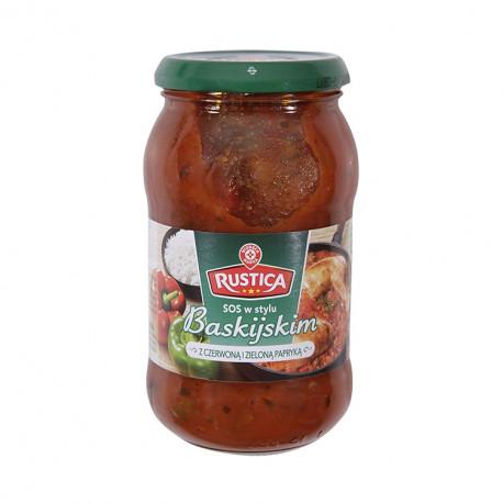 Sos warzywny (pomidor, cebula, papryka czerwona).  Produkt pasteryzowany.