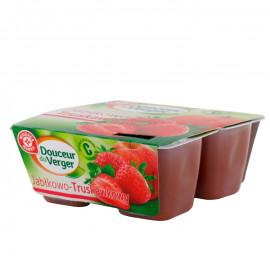 Mus jabłkowo-truskawkowy. Źródło witaminy C. Produkt pasteryzowany.