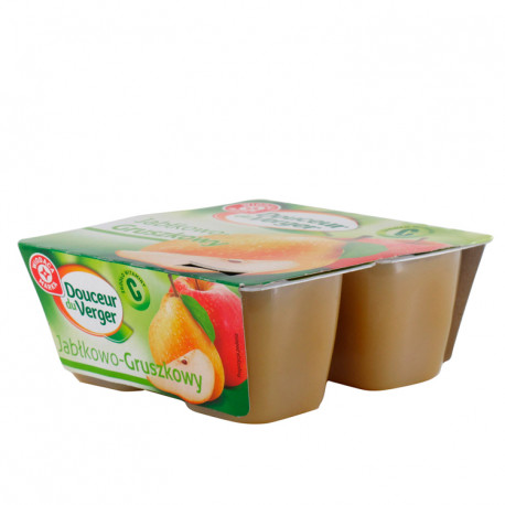 Mus jabłkowo-gruszkowy. Źródło witaminy C. Produkt pasteryzowany.