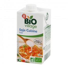 Ekologiczny zabielacz sojowy do zup i sosów.  Preparat na bazie soi. Produkt UHT. Produkt rolnictwa ekologicznego.