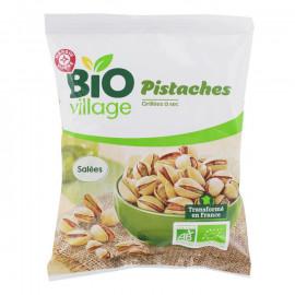 Ekologiczne pistacje prażone, solone. Produkt rolnictwa ekologicznego. Pakowano w atmosferze ochronnej.