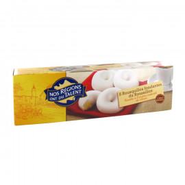 Rousquilles - ciasteczka w polewie lukrowej o smaku cytryny i anyżu – 8 sztuk