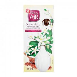 Odświezacz powietrza z wazonikiem i patyczkami, cytrusy i drzewo sandałowe