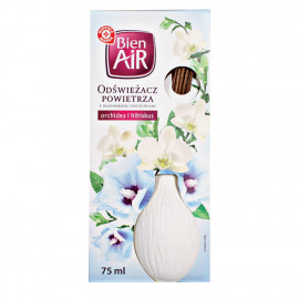 Odświeżacz powietrza z wazonikiem i patyczkami, orchidea i hibiskus