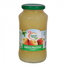 Jabłka prażone z cukrem. Produkt pasteryzowany.