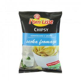 Chipsy ziemniaczane ryflowane o smaku serka fromage