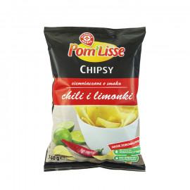 Chipsy ziemniaczane ryflowane o smaku chili i limonki