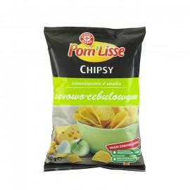 Chipsy ziemniaczane ryflowane o smaku serowo-cebulowym