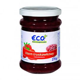 Dżem truskawkowy o obniżonej zawartości cukru. Produkt pasteryzowany.