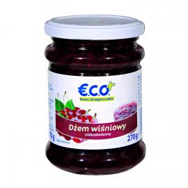 Dżem wiśniowy niskosłodzony o obniżonej zawartości cukru, Produkt pasteryzowany.