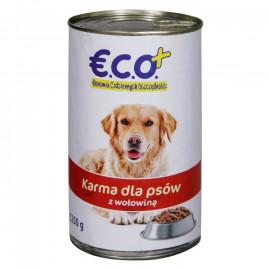 Pełnoporcjowa karma mokra w sosie z wołowiną, dla dorosłych psów