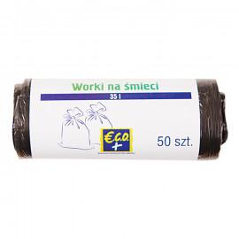 Worki na śmieci HDPE 35l