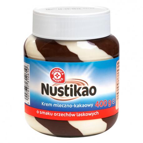 Krem mleczno-kakaowy  o smaku orzechów laskowych