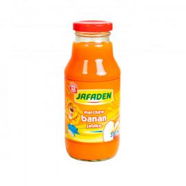 Napój przecierowy z marchwi, bananów i jabłek. Wzbogacony witaminą c, słodzony, pasteryzowany.